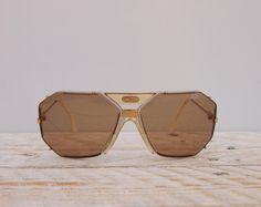 31ec69fc05 Vintage 1980s Cazal 905 Sunglasses - West Germany Unisex Frames - VTG 80s  Brown Glass Cream Oversize Avant Garde Sunglasses