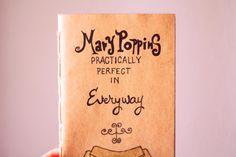Mary Poppins Notebook  On Etsy :)  Katratzi*