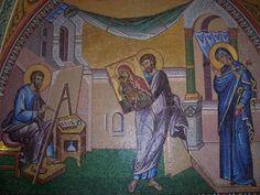 Luke the Evangelist Luke The Evangelist, Pagan Gods, Sacred Feminine, Madonna And Child, Blessed Virgin Mary, Gods And Goddesses, Catholic, St Luke, Painting