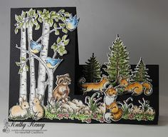 Joyfully Made Designs by Kathy Roney using Heartfelt Creations' Woodsy Wonderland Collection of stamps and matching dies