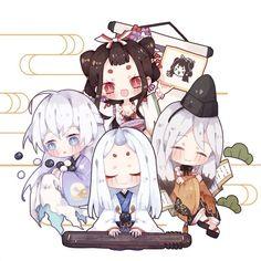 [onmyoji] fan art - chap 7 - Page 3 - Wattpad Kawaii Chibi, Cute Chibi, Anime Chibi, Anime Manga, Kawaii Anime, Anime Art, Fairy Tail Photos, Character Art, Character Design