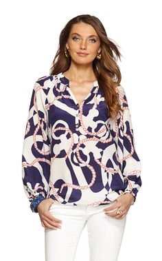 Had to have this one for summer. Lilly Pulitzer Elsa Top in Booze Cruise Casual Outfits, Cute Outfits, Casual Clothes, Work Clothes, Casual Wear, Cruise Attire, Preppy Style, My Style, Lilly Pulitzer Tops