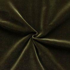 Baumwoll Bekleidungs- / Deko Samt Artikel Fynn Farbe Braun-Grün