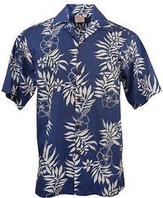 56178179f Go Barefoot - Mini Tahitian - Hawaiian Aloha Shirt - Blue-White