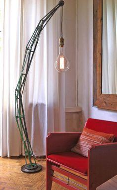 Lamp van Meccano. Oom Jan Lampen by Billy Leliveld