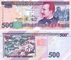 Country: Honduras Currency: 500 Honduran Lempira Observe: Ramon Rosa (Lieutenant Secretary of Finance of Guatemala) co. Honduras, Money Template, Disney Princess Memes, History Of Philosophy, Utila, Money Worksheets, Puerto Rico History, Tegucigalpa, Coin Art