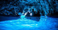 The Blue Grotto is a natural cave in Capri Italy. Discover the Grotta Azzurra by boat: entrance fee, tickets, opening hours, how to get to the Blue Grotto Places In Europe, Places To Travel, Places To See, Sorrento Italy, Naples Italy, Italy Italy, Venice Italy, Venice Travel, Italy Travel