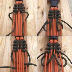 Pin by Charlie chavis on paracord Paracord Bracelet Designs, Paracord Bracelet Survival, Bracelet Crafts, Paracord Bracelets, Paracord Tutorial, Bracelet Tutorial, Paracord Braids, Parachute Cord, Viking Knit