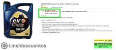 5L Lubricante Elf 5W-30 disponible por 13 - http://ift.tt/2u2vwS6