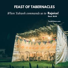 Feast of Tabernacles ~ YHVH commands us to rejoice! ~ and you shall rejoice in your feast, you and your son and your daughter and your male and female servants and the Levite and the stranger and the orphan and the widow who are in your towns. Yom Kippur, Feast Of Tabernacles, Festival Of Tabernacles, Jews For Jesus, Feasts Of The Lord, Jewish Festivals, Messianic Judaism, Happy Sabbath, Bride Of Christ