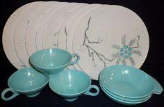 Melmac Melamine Apollo ware, Alexander Barna, turquoise