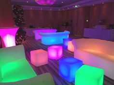 LED Sofas and Colour Changing Seats / Side Tables | Firebird Events