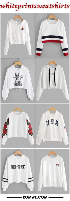 white print sweatshirts from romwe.com