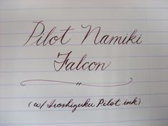 The Penny Writer.: Pilot Namiki Falcon Review (modified by Mottishaw)