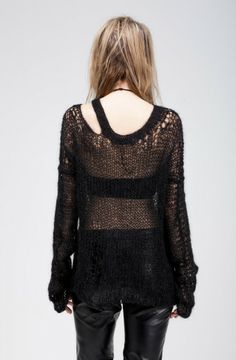 DRYW MOHAIR AND BAMBOO SWEATER by Morph Knitwear at Sisters of the Black Moon