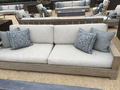 teak armed sofa from RH