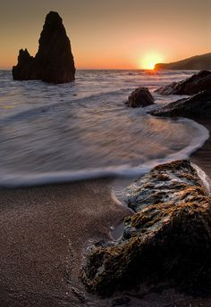 Rodeo Beach, Golden Gate National Recreation Area located in Marin County, California