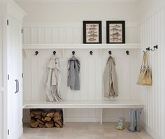 Photos : influence Cape Cod | Maison et Demeure #vestibule #vestiaire #entree #mudroom