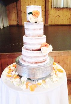 Rustic Fall Naked Cake, by Amy Hart