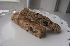 Basic Guilt free Vegan Gluten free Biscotti - oat, brown rice, coconut butter, date