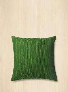 Varvunraita upholstery pillow cover by Marimekko Green Cushion Covers, Green Cushions, Pillow Shams, Pillow Covers, Green Rooms, Marimekko, Bold Prints, Textile Design, Upholstery