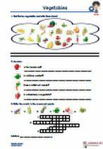 #Vegetables- #Gemuese. Do you know the vegetables? #Englische #Begriffe zum Thema vegetables. #Vokabeln, #Uebungen und #Arbeitsmaterialien. Gemüse erkennen und eintragen, #Uebersetzungen, #Woerter vervollständigen, #Kreuzwortraetsel, Puzzle, Fragen beantworten, #Lueckentexte