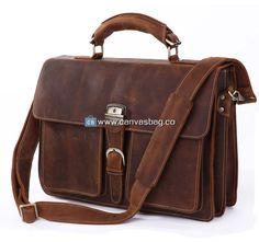 Leather Briefcase Leather Messenger Bag Laptop Bag