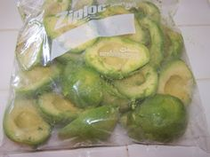 Freezing Avocado's- easy! And if you stock up while they're on sale you'll save lots of $$$