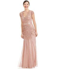 @Bonnie Woollett Bridesmaid dress; Adrianna Papell Cap-Sleeve Embellished Gown - Dresses - Women - Macy's