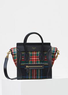 41290fadda62d Nano Luggage Bag in Tartan Felt - Fall   Winter Collection 2017