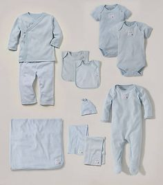 Burts Bees Baby Clothes Delectable Burt's Bees Baby Organic Cotton Set  Blue Kimono Top And Striped Design Ideas