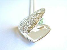 Filigree Heart Locket Necklace £12.50