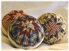 Folded Fabric ornaments are SO fun!!
