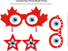 Canada Day activities for the kids to help celebrate with coloring pages, games, crafts, writing paper, bookmarks and more. Canada Day 2017, Canada 150, Cubicle Birthday Decorations, Activities For Kids, Crafts For Kids, Photobooth Props Printable, Photo Booth Props, Writing Paper, Coloring Pages