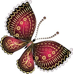 "Photo from album ""Рисованные бабочки"" on Yandex. Butterfly Clip Art, Butterfly Pictures, Butterfly Painting, Butterfly Crafts, Butterfly Wallpaper, Butterfly Design, Butterfly Mobile, Art Papillon, Beautiful Butterflies"