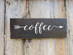 Rustic Home Decor Kitchen Decor Sign Coffee by BearlyInMontana