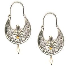 Greek hoop earrings in silver with anthemion design and gemstones. Find new exclusive pieces of earrings in silver and gold at Athena's Treasures. Greek Jewelry, Jewelry Box, Silver Jewelry, Jewellery, Ruby Gemstone, Fantasy Jewelry, Earrings Handmade, Hoop Earrings, Bling