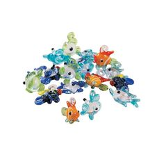 Fish Lampwork Charms - OrientalTrading.com...These are just down right cool FOR KANDI