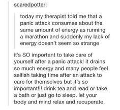 After a panic attack...