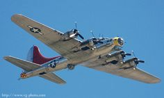 """B17G Boeing Flying Fortress bomber """"Miss Angela"""", Tail #4485778."""