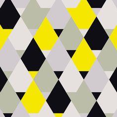 Quadro - Yellow triangles - Decohouse