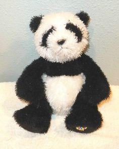 "Lil Kinz Webkinz PANDA Plush Stuffed Ganz Animal 7"" Tall No Code BEAR"