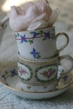 The lower demitasse cup is the same as one of Minnies that was salvaged from the fire at Brimbago