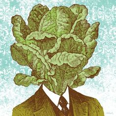 Lettuce Head - Canvas Wall Art by Nate Duval. 24x24, $139. Available framed in deep pewter or warm white!
