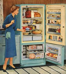 Drawing - General Electric Usa Fridges by The Advertising Archives Advertising Archives, Retro Advertising, Vintage Advertisements, Vintage Ads, Vintage Images, General Electric, Kitsch, Posters Vintage, Vintage Housewife