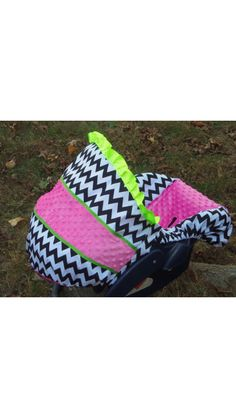 Baby girls car seat cover! :) from etsy.com