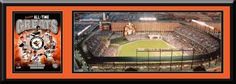 Baltimore Orioles Oriole Park at Camden Yards Aerial View Large Stadium Poster With Team Photo