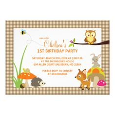 Woodland Animals First Birthday Invitations In our offer link above you will seeDealsOnline Secure Check out Quick and Easy...