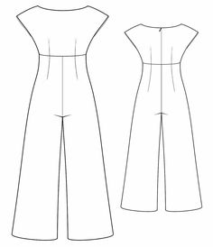 Overall - Sewing Pattern Made-to-measure sewing pattern from Lekala with… Diy Clothing, Clothing Patterns, Dress Patterns, Sewing Patterns, Vogue Patterns, Vintage Patterns, Vintage Sewing, Jumpsuit Pattern, Pants Pattern