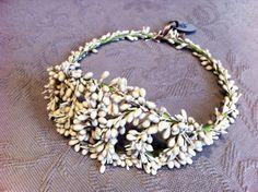 Corona de novia de azahares